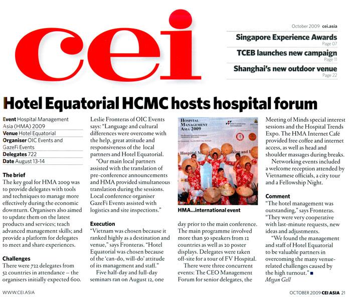 Hotel Equatorial HCMC Host Hospital Forum