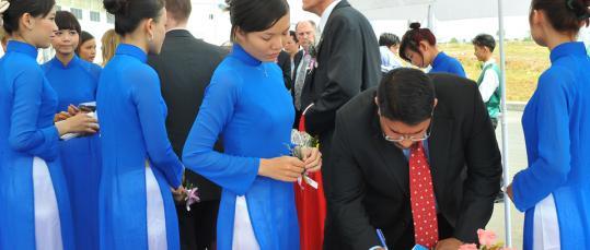 events vietnam   Glatz Fine Paper Vietnam Grand Opening Ceremony